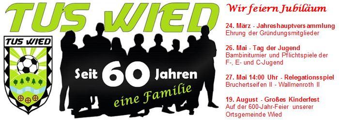TuS Wiedbachtal Wied e.V. | Telefon 02662 50507 | Telefax 02662 50514